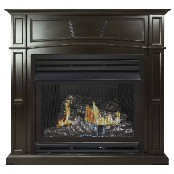 Pleasant Hearth 46 in. Natural Gas Full Size Tobacco Vent Free Fireplace System 32,000 BTU 1