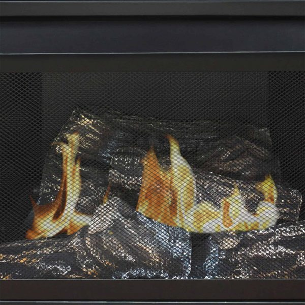 Pleasant Hearth 46 in. Natural Gas Full Size Tobacco Vent Free Fireplace System 32,000 BTU 3