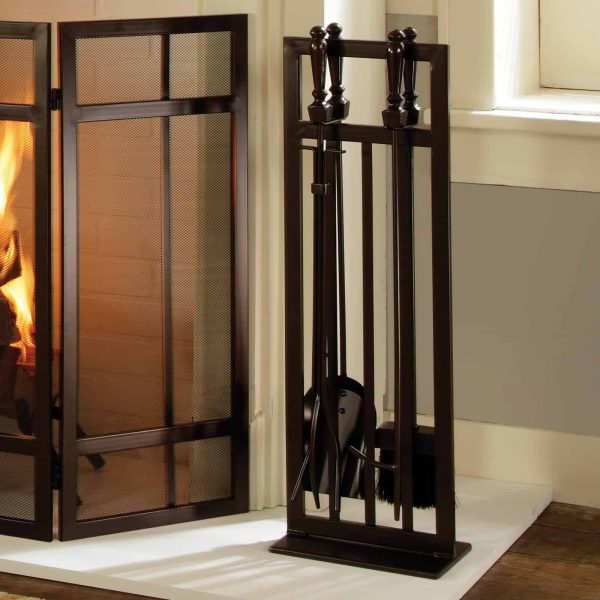 Pleasant Hearth 5-Piece Mission Style Fireplace Toolset 1