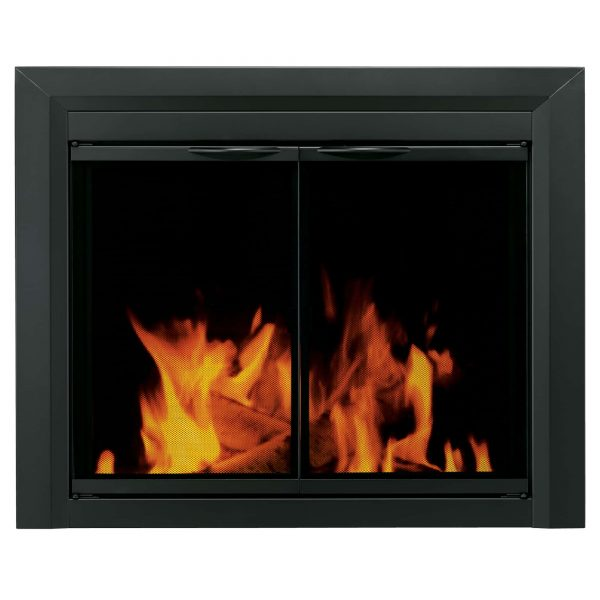 Pleasant Hearth Carlisle Glass Firescreen Black - Small