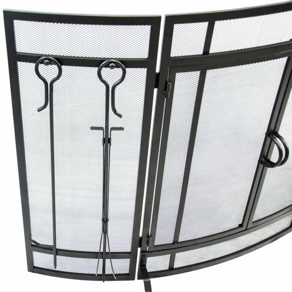 Pleasant Hearth Curved Screen with Tools, FA498ST 1