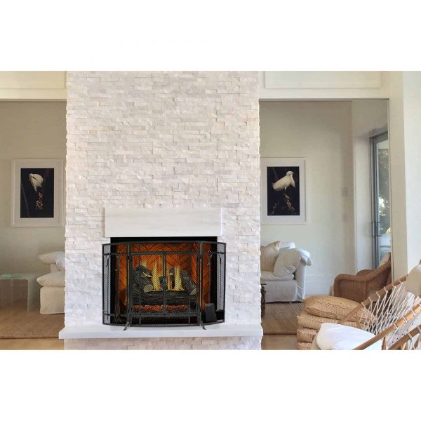Pleasant Hearth Curved Screen with Tools, FA498ST 5