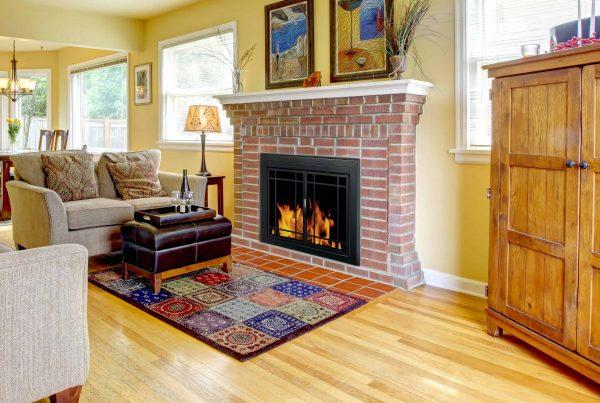Pleasant Hearth Easton Black Fireplace Glass Firescreen Doors - Large 1