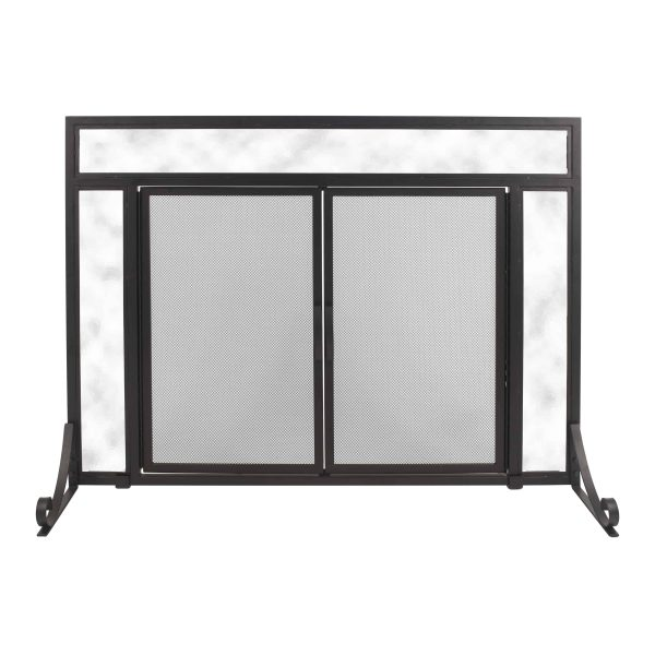 Pleasant Hearth FA183S-L Manchester Fireplace Screen (Large Size)