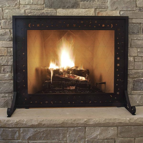 Pleasant Hearth FA330S Galactica Fireplace Screen 1