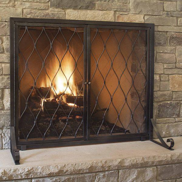 Pleasant Hearth FA628S Stonewall Fireplace Screen 1