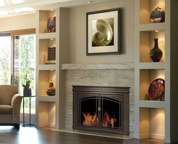 Pleasant Hearth Fenwick Glass Firescreen Oil Rubbed Bronze - Medium 1
