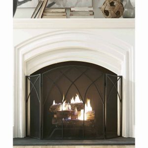 Pleasant Hearth Gothic Fireplace Screen