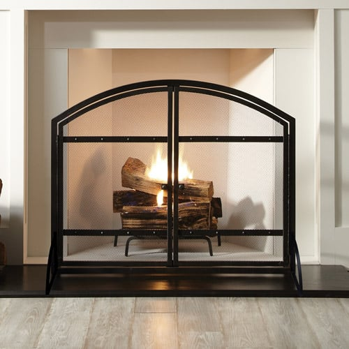 Pleasant Hearth Harper Arched Fireplace Screen with Doors 1
