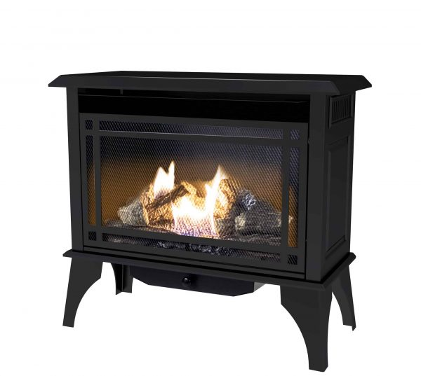 000 BTU 32 in. Intermediate Vent Free Gas Stove