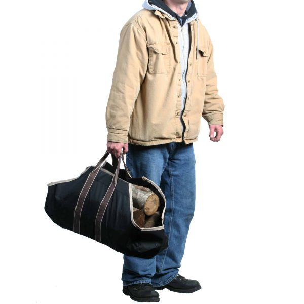Portable Canvas Heavy Duty Log Carrier Makes Moving Logs Easy By Kodiak 3