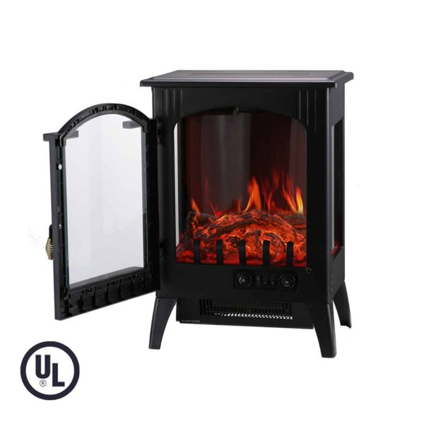Portable Indoor Home Compact Electric Wood Stove Fireplace Heater