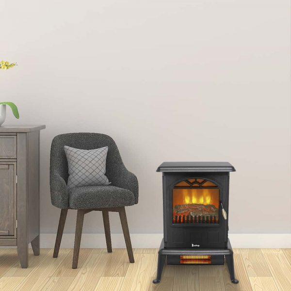 Log Fuel Effect Realistic Flame Electric Heater