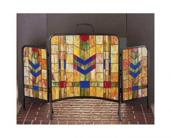 Prairie Wheat Folding Fireplace Screen