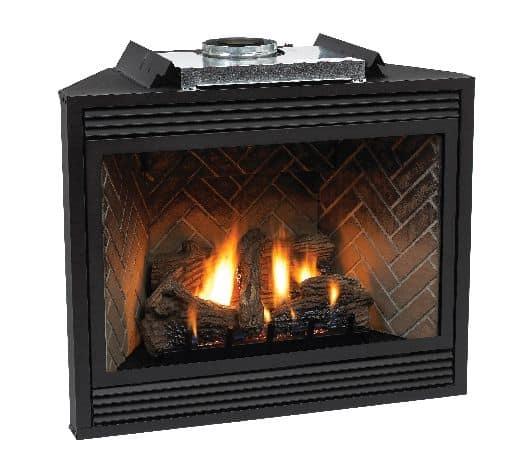 """Premium 36"""" Direct-Vent LP Millivolt Control Fireplace"""
