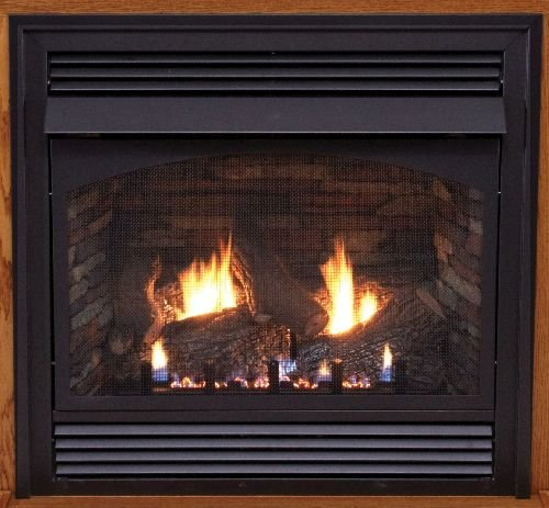 """Premium 36"""" Vail Vent-Free Thermostat Control NG Fireplace with Blower"""