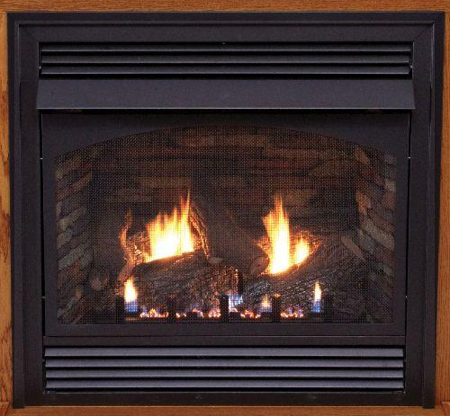 "Premium 36"" Vent-Free Millivolt Control LP Fireplace with Blower"