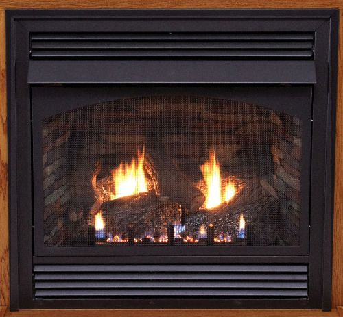 """Premium 36"""" Vent-Free Thermostat Control NG Fireplace with Blower"""