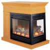 ProCom Full Size Electric Peninsula Fireplace With Remote Control - Oak Finish