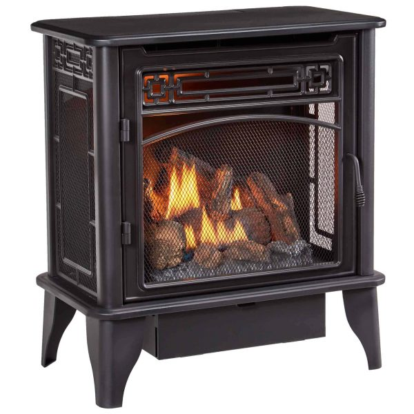 ProCom Gas Stove 3-Sided Dual Fuel Black ? 23