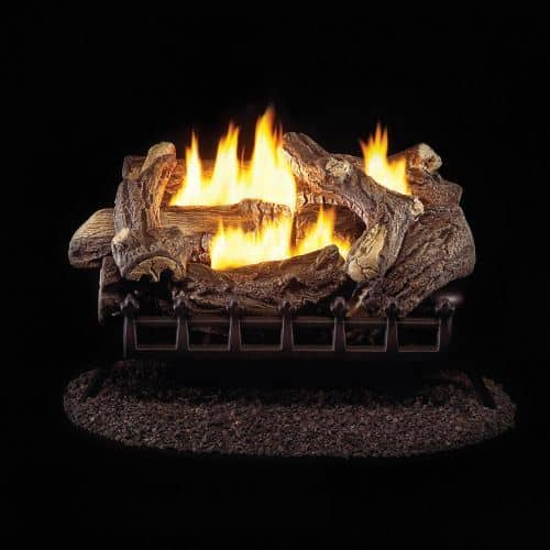 "ProCom WZL24MVA 24"" Ventless Log Set w/ Dual Burner - LP"