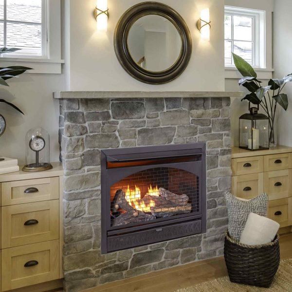 Procom Vent-Free Dual Fuel Fireplace Insert, Model FBNSD28T 3