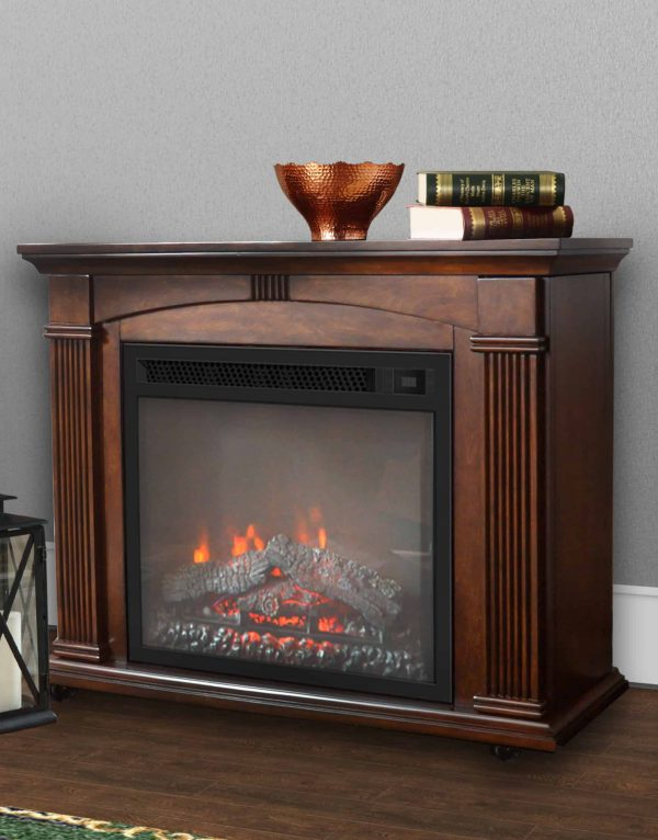 Prokonian 37 inch Mantel Electric Fireplace in Cherry 1