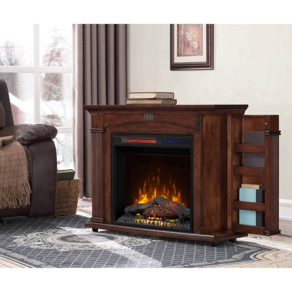 Prokonian 37 inch Mantel Electric Fireplace in Cherry