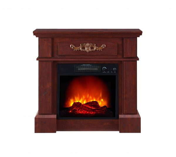 "Prokonian Electric Fireplace with 32"" Mantle, Royal Cherry 1"