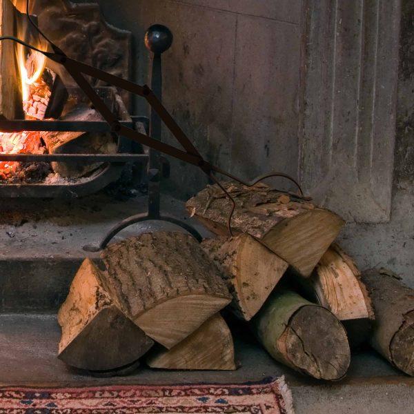 Pure Garden Fire Pit Log Grabber Tongs, Steel, Heavy Duty 4