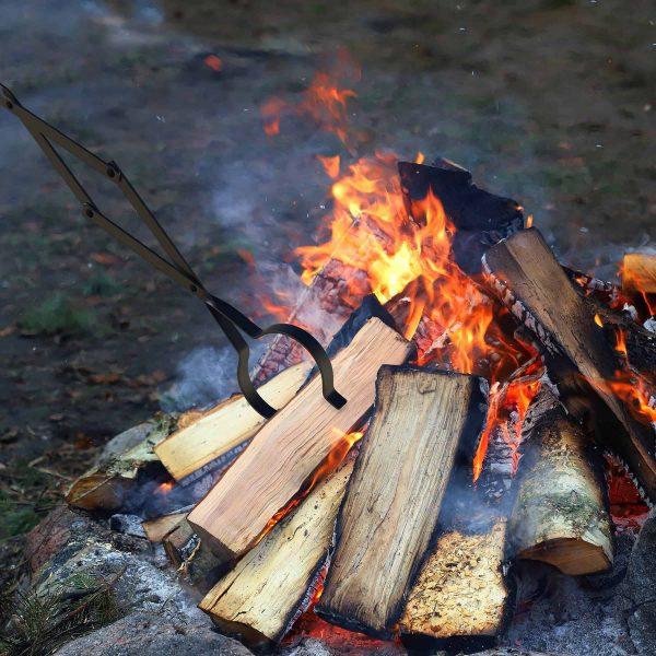 Pure Garden Fire Pit Log Grabber Tongs, Steel, Heavy Duty 5