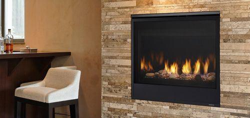 "Quartz 36"" Top/Rear DV Fireplace w/IntelliFire Ignition - NG"