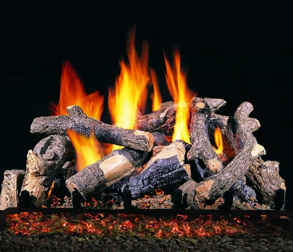 """R. H. Peterson CHDS-30 R.H. Peterson Standard 30"""""""" Charred Oak Stack. Logs Only (does not include burner). For use in wood burning fireplaces with a compatible vented gas log burner only."""