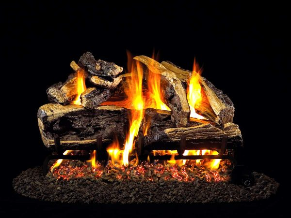 """R. H. Peterson CHRRSO-24 R.H. Peterson Standard 24"""""""" Charred Rugged Split Oak. Logs Only (does not include burner). For use in wood burning fireplaces with a compatible vented gas log burner only."""