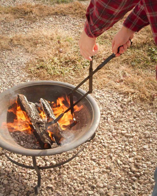 "RC | Log Tongs Fireplace Poker Wood Tongs Fireplace Tongs Heavy Duty Grabber 26"" 3"