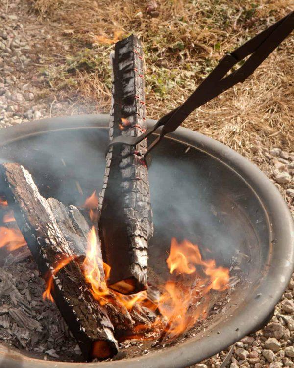 "RC | Log Tongs Fireplace Poker Wood Tongs Fireplace Tongs Heavy Duty Grabber 26"" 5"