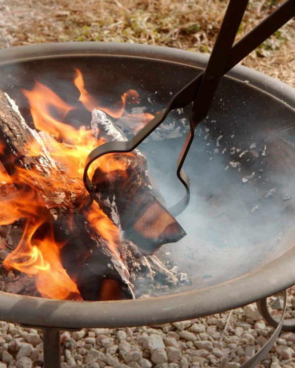"RC | Log Tongs Fireplace Poker Wood Tongs Fireplace Tongs Heavy Duty Grabber 26"" 6"