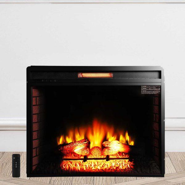 "ROVSUN 26"" Embedded Electric Fireplace Heater"