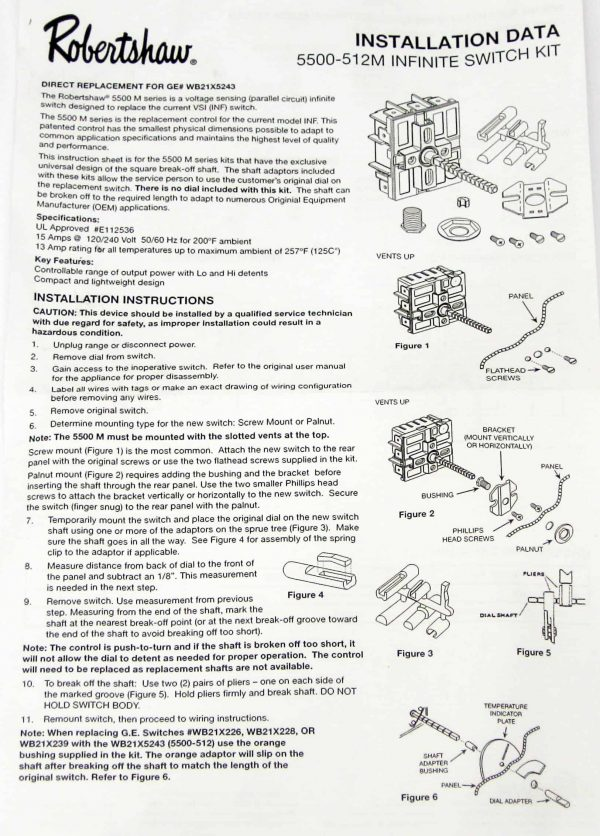 Range Stove Burner Infinite Switch for GE WB21X5243 PS235991 AP2023620 3