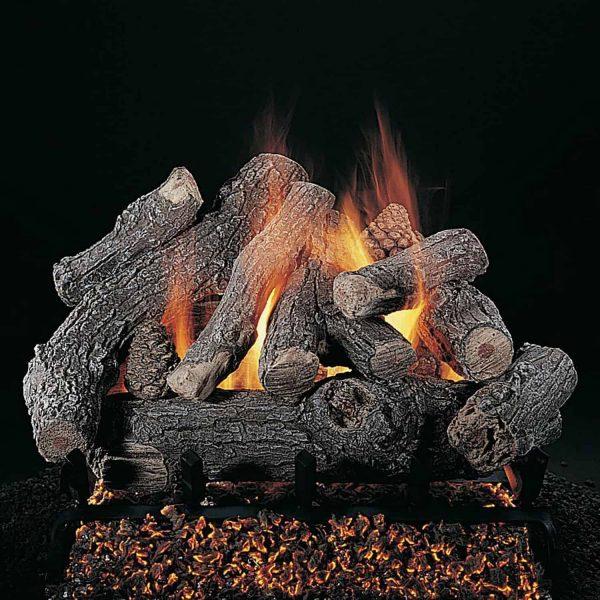 "Rasmussen Bonfire Log Set w/ 18"" (CXF) Burner and No Pilot Kit"