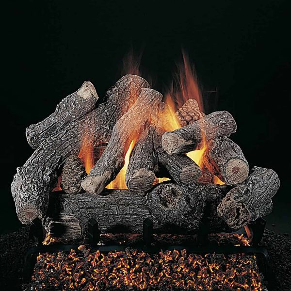 "Rasmussen Bonfire Log Set w/ 18"" (F) Burner and No Pilot"