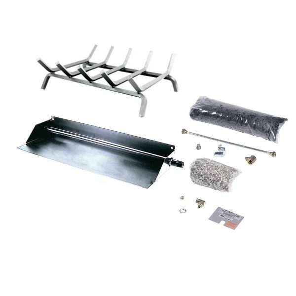 Rasmussen Flaming Ember Stainless Steel Burner and Grate Kit