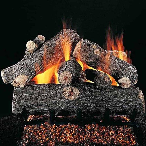"Rasmussen Prestige Oak Log Set w/ 18"" (CS) Burner and No Pilot Kit"