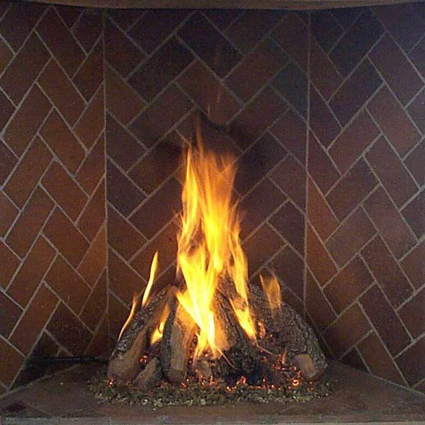 Rasmussen Retiring Tipi Log Set for Rumford Style Fireplaces