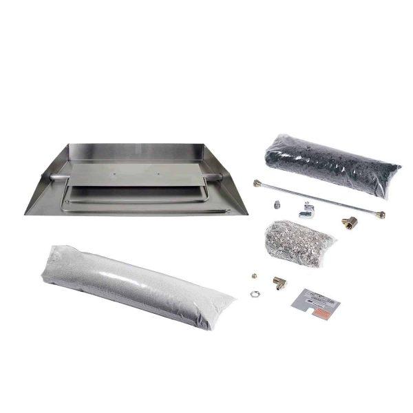 Rasmussen Stainless Steel Custom Embers Pan Vented Fireplace Burner Kit