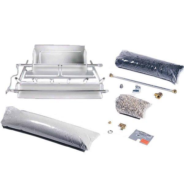 Rasmussen TimberFire Series Stainless Steel Multi-Burner and Grate Kit