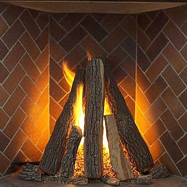Rasmussen Tipi Log Set for Rumford Style Fireplaces