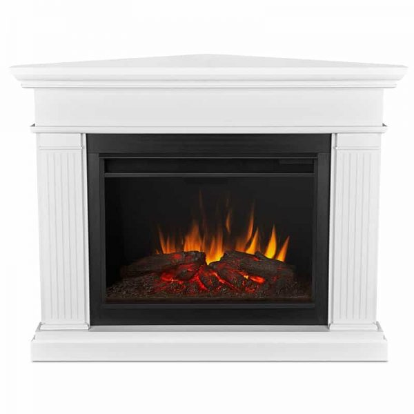 Real Flame Kennedy Grand Corner Electric Fireplace, White 1
