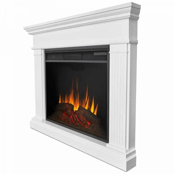 Real Flame Kennedy Grand Corner Electric Fireplace, White 2