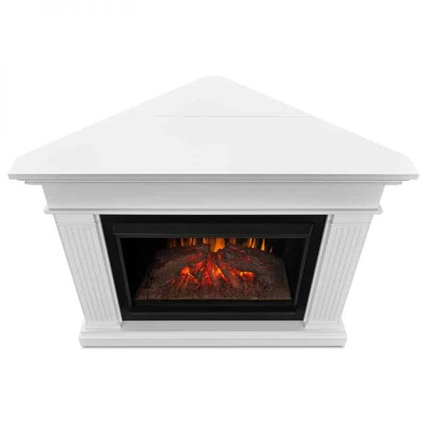 Real Flame Kennedy Grand Corner Electric Fireplace, White 3